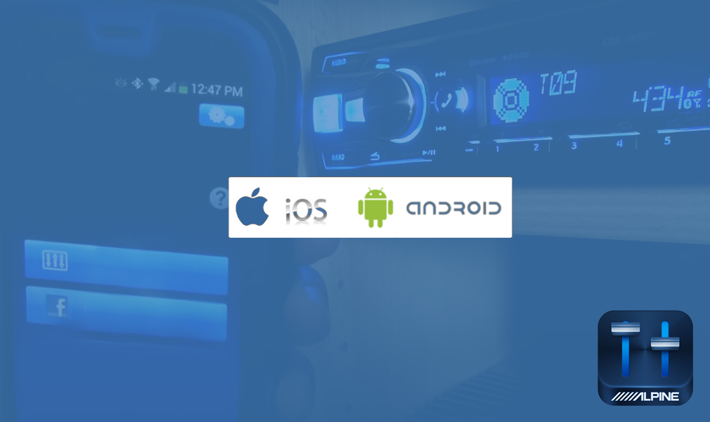 Новая автомагнитола UTE-92BT с приложением Alpine TuneIt App